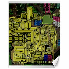 Technology Circuit Board Canvas 12  X 16