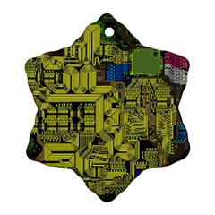 Technology Circuit Board Ornament (snowflake) by Sapixe