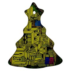 Technology Circuit Board Ornament (christmas Tree)  by Sapixe