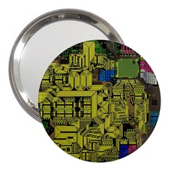 Technology Circuit Board 3  Handbag Mirrors by Sapixe