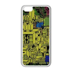 Technology Circuit Board Apple Iphone 5c Seamless Case (white) by Sapixe