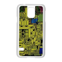 Technology Circuit Board Samsung Galaxy S5 Case (white) by Sapixe