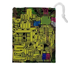 Technology Circuit Board Drawstring Pouches (xxl) by Sapixe