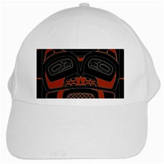 Traditional Northwest Coast Native Art White Cap by Sapixe