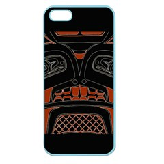 Traditional Northwest Coast Native Art Apple Seamless Iphone 5 Case (color) by Sapixe