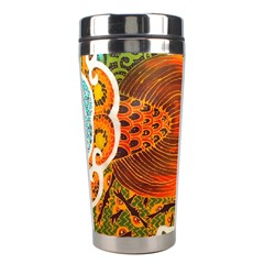 The Beautiful Of Art Indonesian Batik Pattern Stainless Steel Travel Tumblers by Sapixe