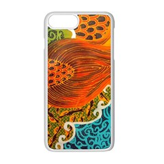 The Beautiful Of Art Indonesian Batik Pattern Apple Iphone 8 Plus Seamless Case (white)