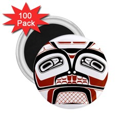 Traditional Northwest Coast Native Art 2 25  Magnets (100 Pack)  by Sapixe
