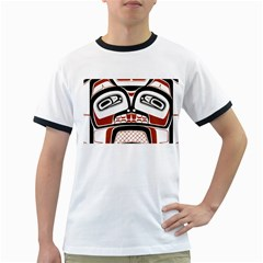 Traditional Northwest Coast Native Art Ringer T-shirts by Sapixe