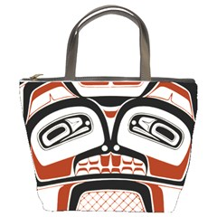 Traditional Northwest Coast Native Art Bucket Bags by Sapixe