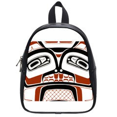 Traditional Northwest Coast Native Art School Bag (small) by Sapixe