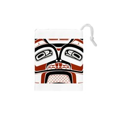 Traditional Northwest Coast Native Art Drawstring Pouches (xs)
