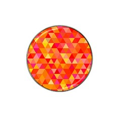 Triangle Tile Mosaic Pattern Hat Clip Ball Marker (4 Pack)