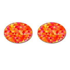 Triangle Tile Mosaic Pattern Cufflinks (oval) by Sapixe
