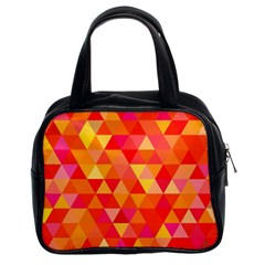 Triangle Tile Mosaic Pattern Classic Handbags (2 Sides) by Sapixe