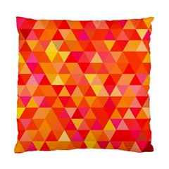 Triangle Tile Mosaic Pattern Standard Cushion Case (one Side) by Sapixe