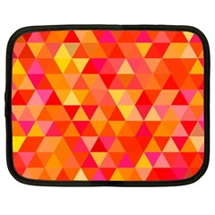 Triangle Tile Mosaic Pattern Netbook Case (xl)  by Sapixe