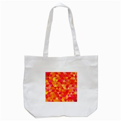 Triangle Tile Mosaic Pattern Tote Bag (white) by Sapixe