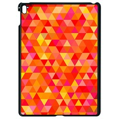 Triangle Tile Mosaic Pattern Apple Ipad Pro 9 7   Black Seamless Case by Sapixe