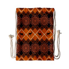 Traditiona  Patterns And African Patterns Drawstring Bag (small)
