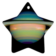 True Color Variety Of The Planet Saturn Ornament (star) by Sapixe