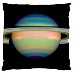 True Color Variety Of The Planet Saturn Large Cushion Case (two Sides)