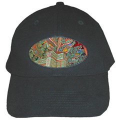 Traditional Korean Painted Paterns Black Cap by Sapixe