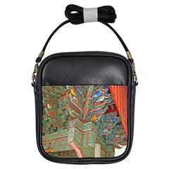 Traditional Korean Painted Paterns Girls Sling Bags by Sapixe