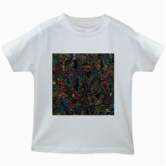 Trees Internet Multicolor Psychedelic Reddit Detailed Colors Kids White T-shirts
