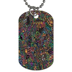Trees Internet Multicolor Psychedelic Reddit Detailed Colors Dog Tag (one Side)
