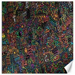 Trees Internet Multicolor Psychedelic Reddit Detailed Colors Canvas 12  X 12