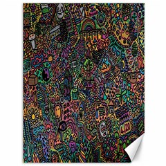 Trees Internet Multicolor Psychedelic Reddit Detailed Colors Canvas 36  X 48   by Sapixe