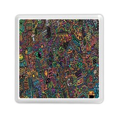 Trees Internet Multicolor Psychedelic Reddit Detailed Colors Memory Card Reader (square)  by Sapixe