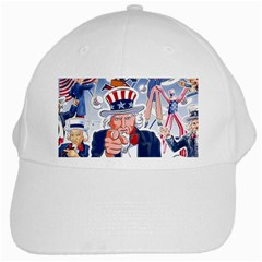 United States Of America Celebration Of Independence Day Uncle Sam White Cap by Sapixe