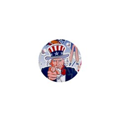 United States Of America Celebration Of Independence Day Uncle Sam 1  Mini Buttons