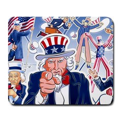 United States Of America Celebration Of Independence Day Uncle Sam Large Mousepads by Sapixe
