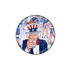 United States Of America Celebration Of Independence Day Uncle Sam Hat Clip Ball Marker (4 Pack) by Sapixe