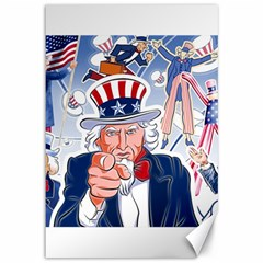 United States Of America Celebration Of Independence Day Uncle Sam Canvas 12  X 18   by Sapixe