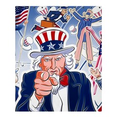 United States Of America Celebration Of Independence Day Uncle Sam Shower Curtain 60  X 72  (medium)  by Sapixe