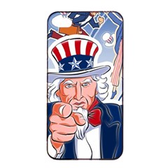 United States Of America Celebration Of Independence Day Uncle Sam Apple Iphone 4/4s Seamless Case (black) by Sapixe