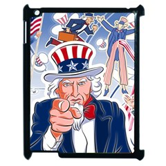 United States Of America Celebration Of Independence Day Uncle Sam Apple Ipad 2 Case (black) by Sapixe