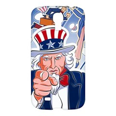 United States Of America Celebration Of Independence Day Uncle Sam Samsung Galaxy S4 I9500/i9505 Hardshell Case by Sapixe