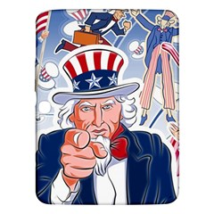 United States Of America Celebration Of Independence Day Uncle Sam Samsung Galaxy Tab 3 (10 1 ) P5200 Hardshell Case  by Sapixe