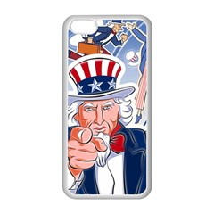 United States Of America Celebration Of Independence Day Uncle Sam Apple Iphone 5c Seamless Case (white) by Sapixe