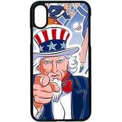 United States Of America Celebration Of Independence Day Uncle Sam Apple Iphone X Seamless Case (black)