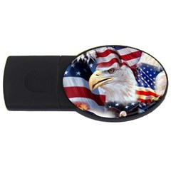United States Of America Images Independence Day Usb Flash Drive Oval (4 Gb) by Sapixe