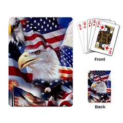United States Of America Images Independence Day Playing Card