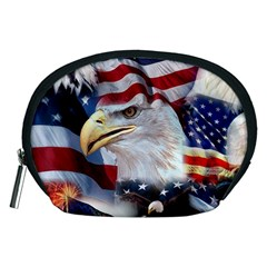 United States Of America Images Independence Day Accessory Pouches (medium)  by Sapixe