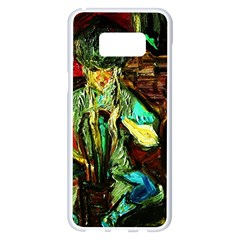 Girl In The Bar Samsung Galaxy S8 Plus White Seamless Case