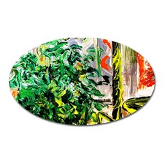 Plant In The Room  Oval Magnet
